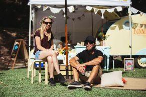 Wedfest vintage caravan picnic